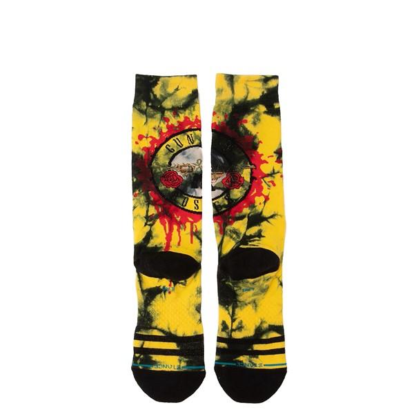 alternate view Mens Stance Guns N' Roses So Fine Crew Socks - Black / YellowALT2