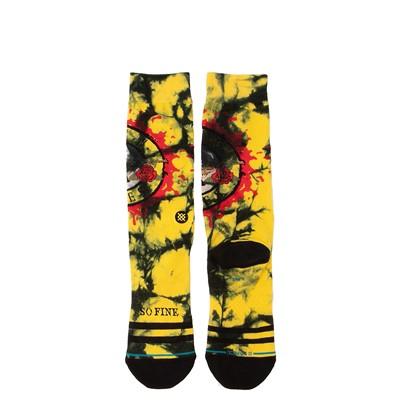 Alternate view of Mens Stance Guns N' Roses So Fine Crew Socks - Black / Yellow