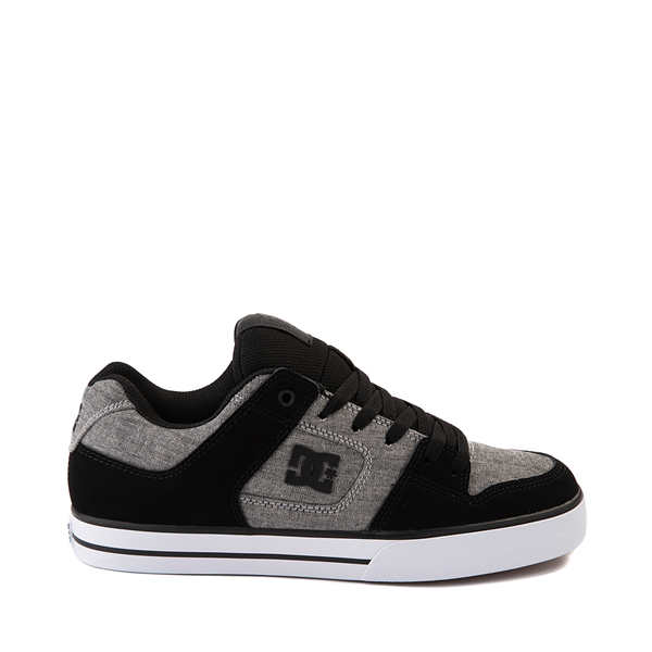 Main view of Mens DC Pure Skate Shoe - Black / Heather Gray