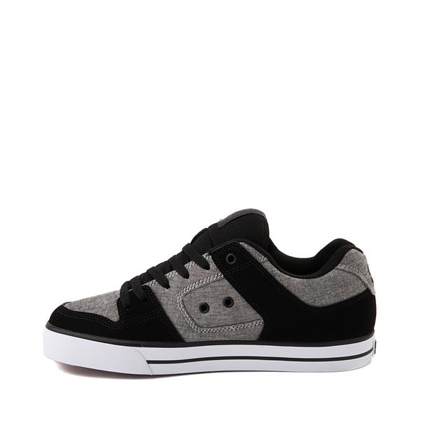 alternate view Mens DC Pure Skate Shoe - Black / Heather GrayALT1
