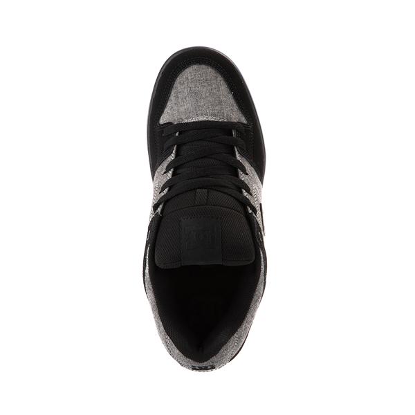 alternate view Mens DC Pure Skate Shoe - Black / Heather GrayALT2