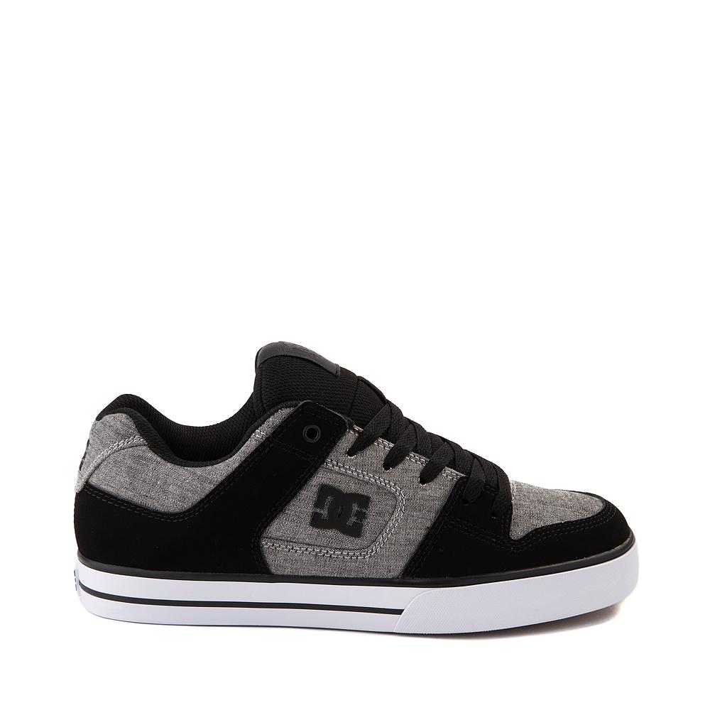 Mens DC Pure Skate Shoe - Black / Heather Gray