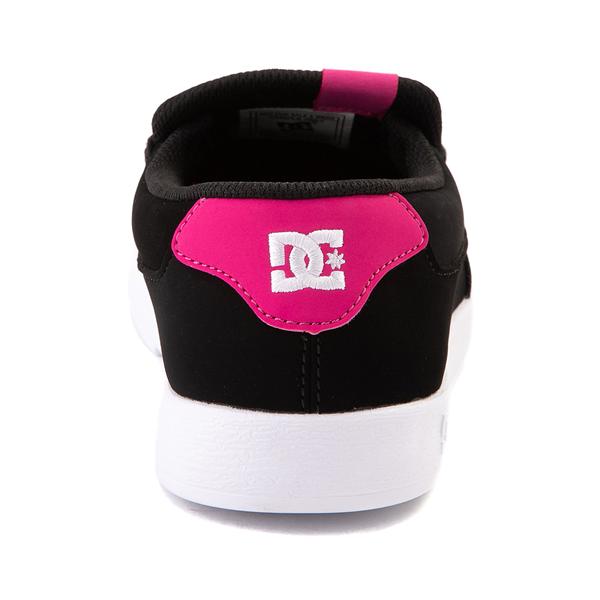 alternate view Womens DC Villain Skate Shoe - Black / Crazy PinkALT4