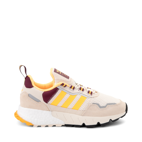 Main view of Womens adidas ZX 1K Boost Athletic Shoe - Wonder White / Gold / Victory Crimson