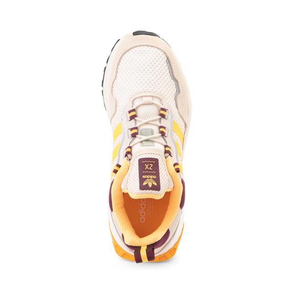 alternate view Womens adidas ZX 1K Boost Athletic Shoe - Wonder White / Gold / Victory CrimsonALT2