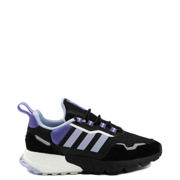 Main view of Womens adidas ZX 1K Boost Athletic Shoe - Black / Violet Tone / Purple