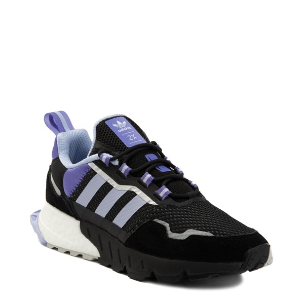 alternate view Womens adidas ZX 1K Boost Athletic Shoe - Black / Violet Tone / PurpleALT5