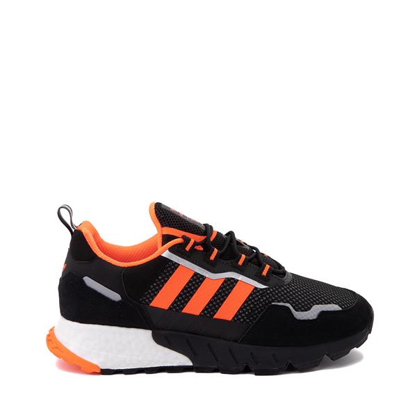 Mens adidas ZX 1K Boost Athletic Shoe - Black / Solar Orange