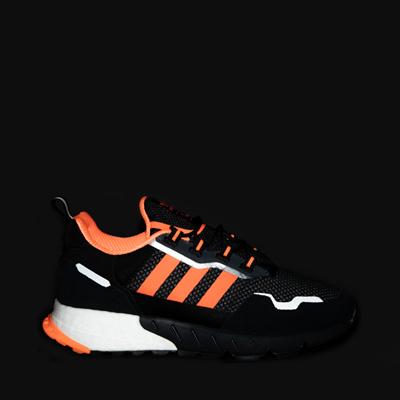 Alternate view of Mens adidas ZX 1K Boost Athletic Shoe - Black / Solar Orange