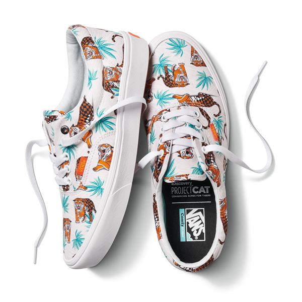 alternate view Vans x Project CAT Era ComfyCush® Skate Shoe - White / Tiger CheckALT1B