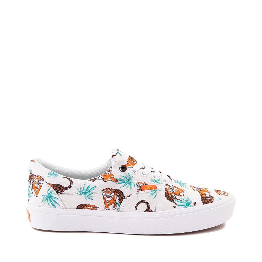 Vans x Project CAT Era ComfyCush® Skate Shoe - White / Tiger Check