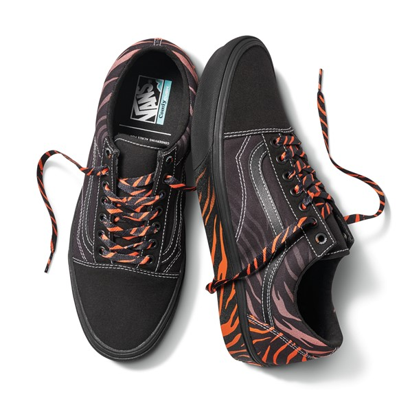 alternate view Vans x Project CAT Old Skool ComfyCush® Skate Shoe - Black / Tiger FadeALT1B