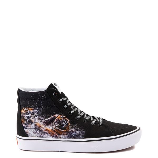 Main view of Vans x Project CAT Sk8 Hi ComfyCush® Skate Shoe - Black / Playing Tigers