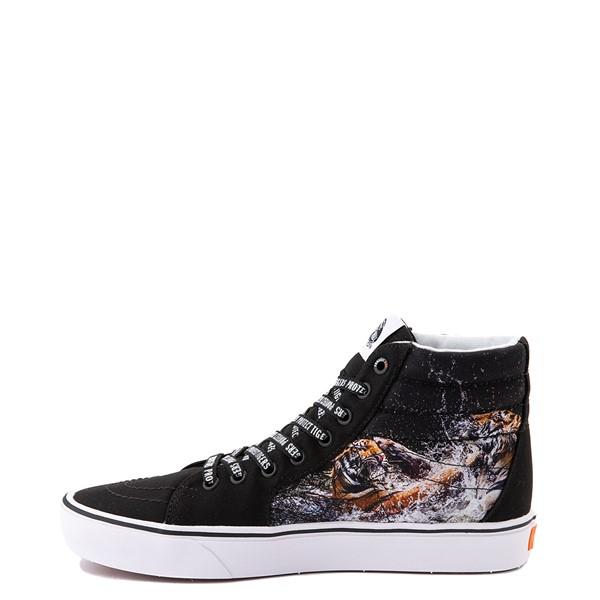 alternate view Vans x Project CAT Sk8 Hi ComfyCush® Skate Shoe - Black / Playing TigersALT1