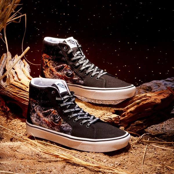 alternate view Vans x Project CAT Sk8 Hi ComfyCush® Skate Shoe - Black / Playing TigersALT1B