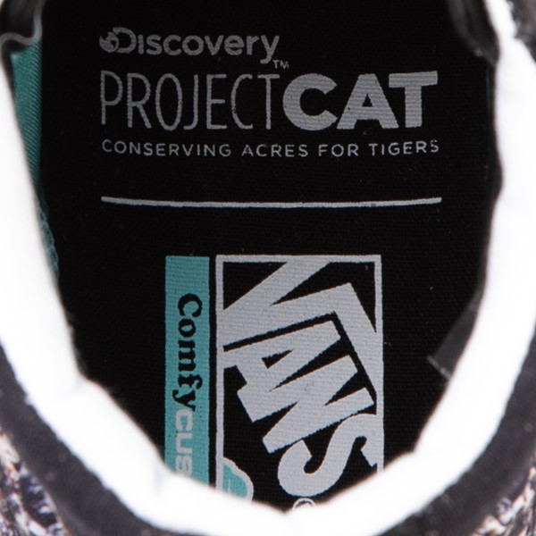 alternate view Vans x Project CAT Sk8 Hi ComfyCush® Skate Shoe - Black / Playing TigersALT2B