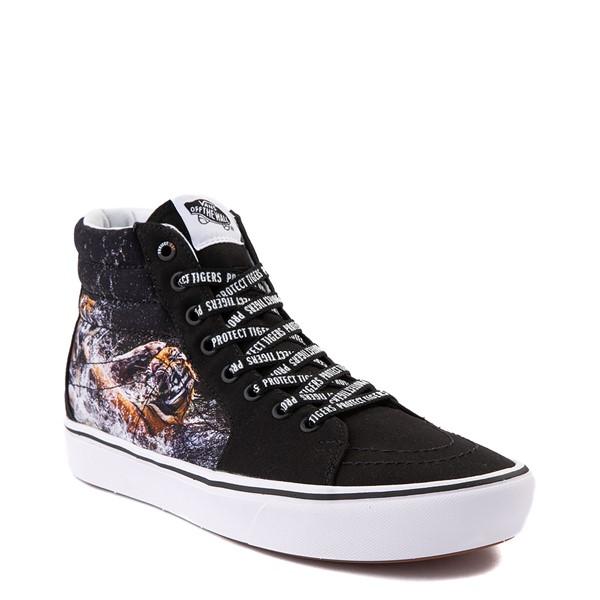 alternate view Vans x Project CAT Sk8 Hi ComfyCush® Skate Shoe - Black / Playing TigersALT5