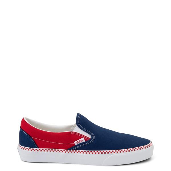 Vans Slip On Checkerboard Skate Shoe - Estate Blue / Racing Red