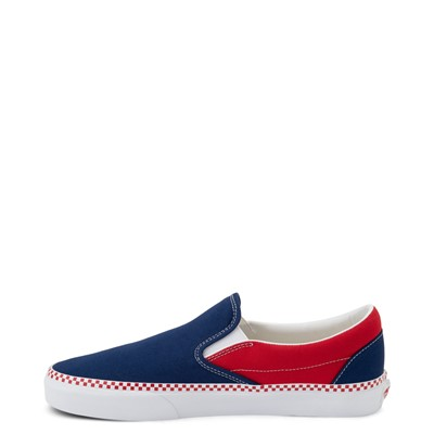 Alternate view of Vans Slip On Checkerboard Skate Shoe - Estate Blue / Racing Red