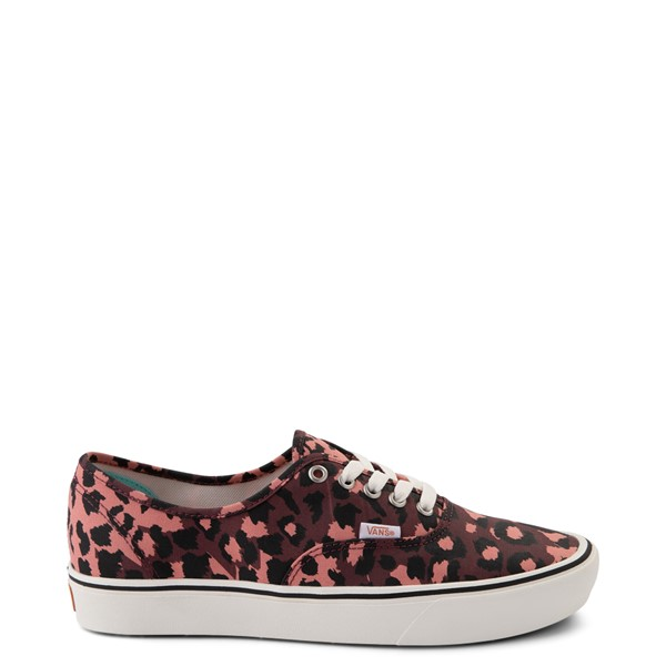 Main view of Vans Authentic ComfyCush® Skate Shoe - Red Leopard
