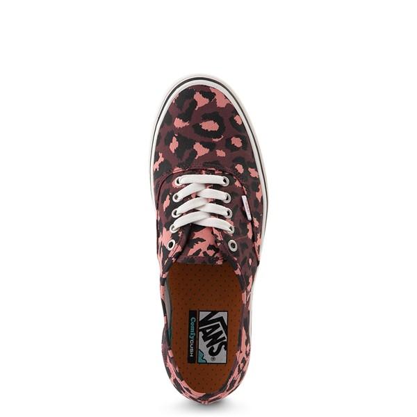 alternate view Vans Authentic ComfyCush® Skate Shoe - Red LeopardALT2