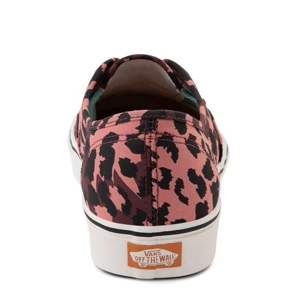 alternate view Vans Authentic ComfyCush® Skate Shoe - Red LeopardALT4