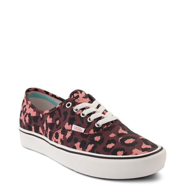 alternate view Vans Authentic ComfyCush® Skate Shoe - Red LeopardALT5