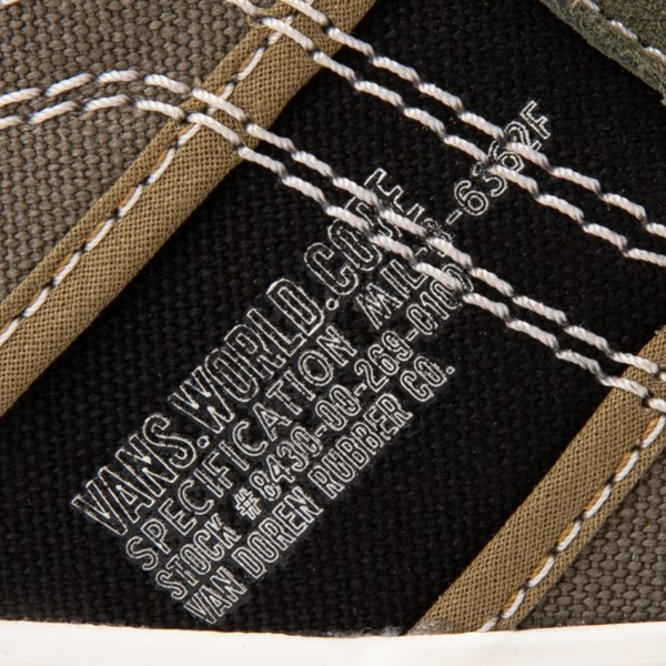 alternate view Vans Sk8 Hi Gym Issue World Code Skate Shoe - Grape LeafALT2C