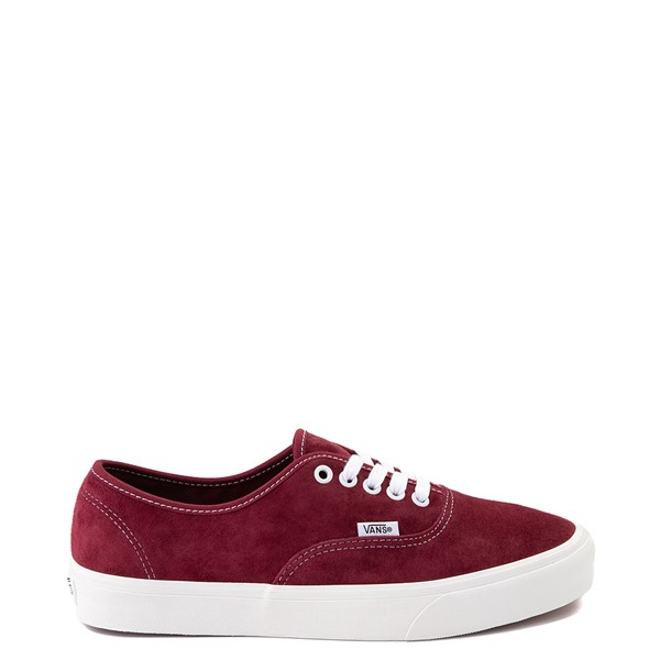 Main view of Vans Authentic Suede Skate Shoe - Pomegranate