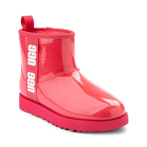 alternate view Womens UGG® Classic Clear Mini II Boot - HibiscusALT5