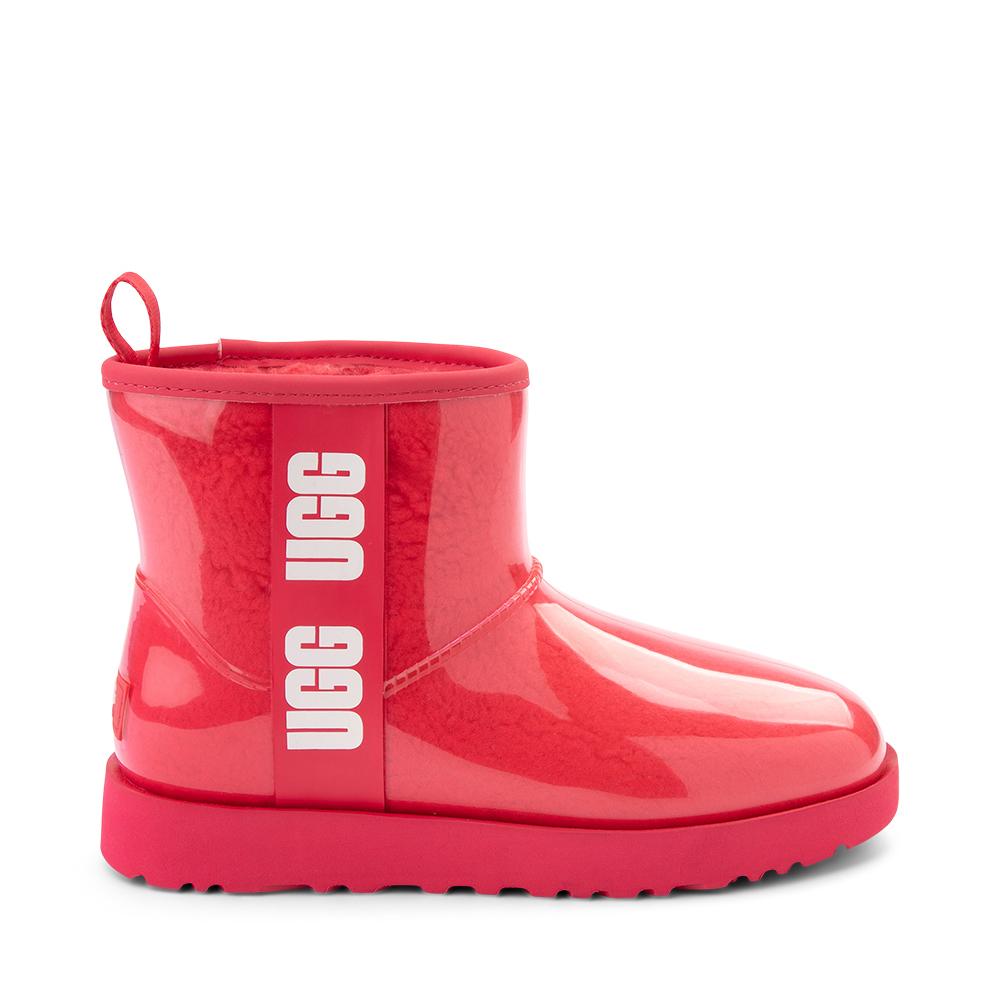 Womens UGG® Classic Clear Mini II Boot - Hibiscus