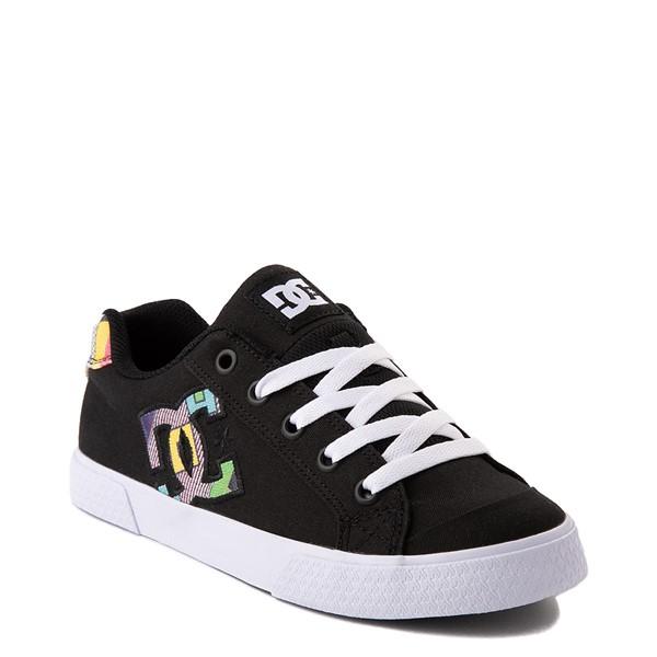 alternate view Womens DC Chelsea Skate Shoe - Black / MulticolorALT1