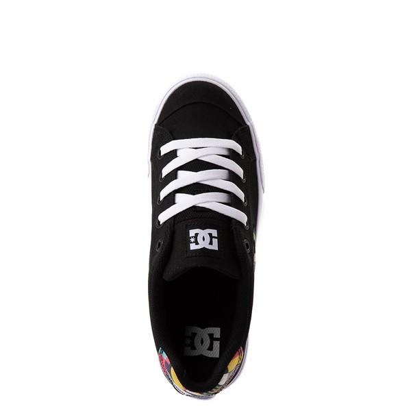 alternate view Womens DC Chelsea Skate Shoe - Black / MulticolorALT4B