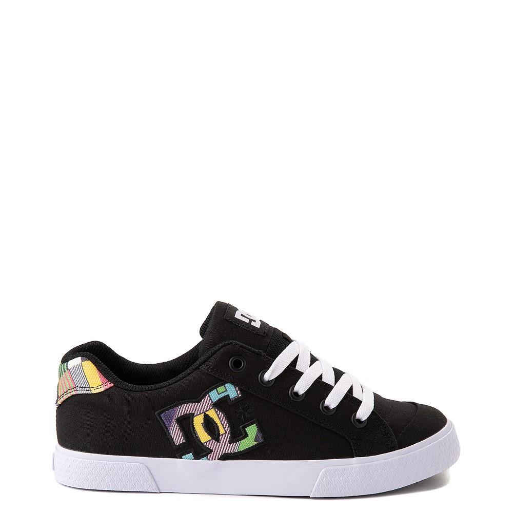Womens DC Chelsea Skate Shoe - Black / Multicolor