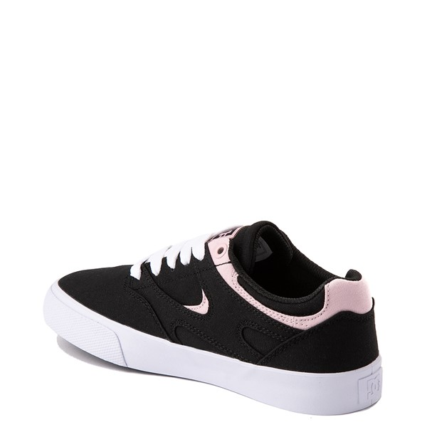 alternate view Womens DC Kalis Vulc Skate Shoe - Black / PinkALT1