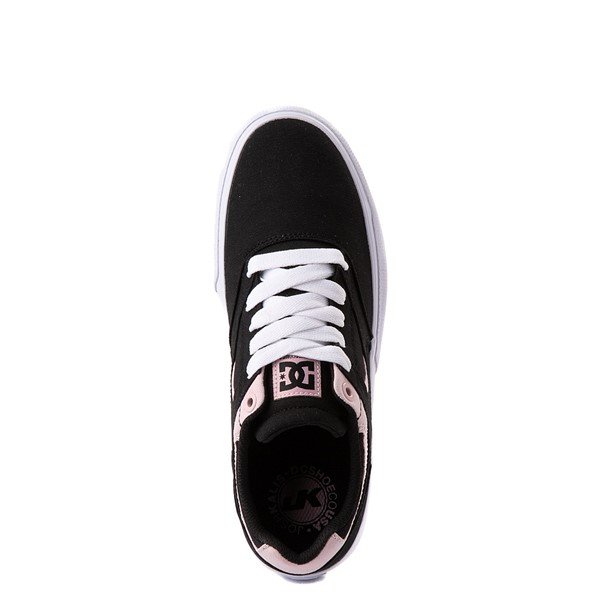 alternate view Womens DC Kalis Vulc Skate Shoe - Black / PinkALT4B