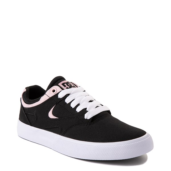 alternate view Womens DC Kalis Vulc Skate Shoe - Black / PinkALT5