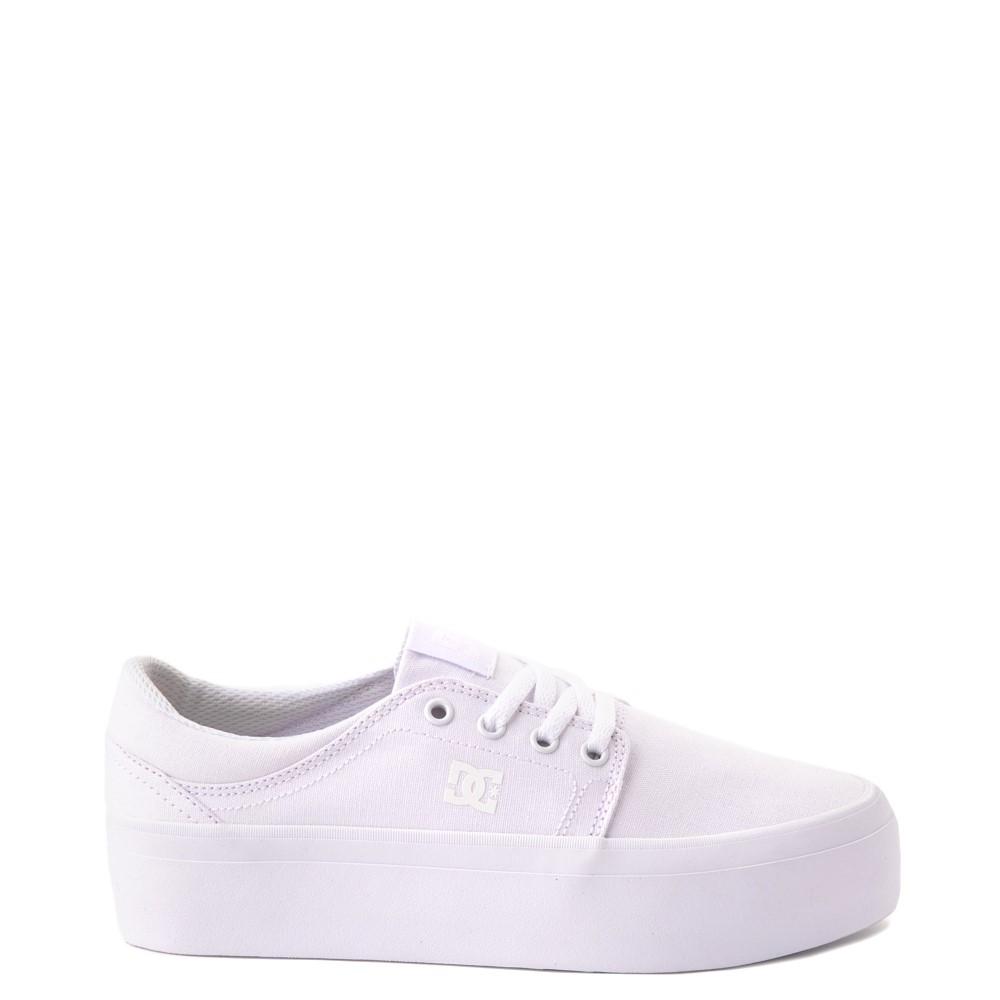 Womens DC Trase Platform Skate Shoe - White Monochrome