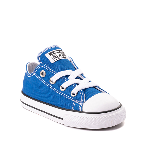 alternate view Converse Chuck Taylor All Star Lo Sneaker - Baby / Toddler - Snorkel BlueALT5