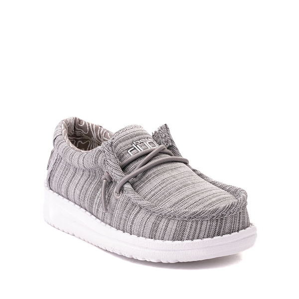 alternate view Hey Dude Wally Casual Shoe - Toddler / Little Kid - StoneALT5