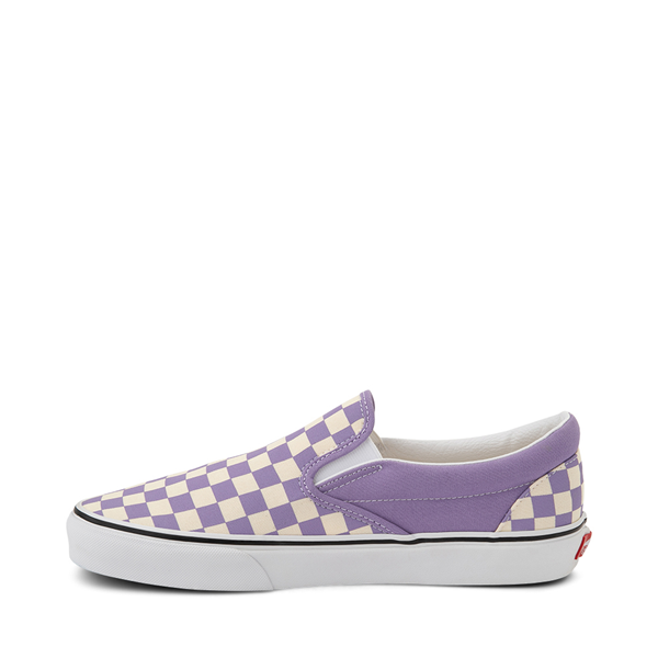 alternate view Vans Slip On Checkerboard Skate Shoe - Chalk VioletALT1