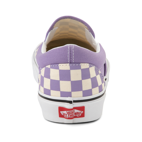 alternate view Vans Slip On Checkerboard Skate Shoe - Chalk VioletALT4