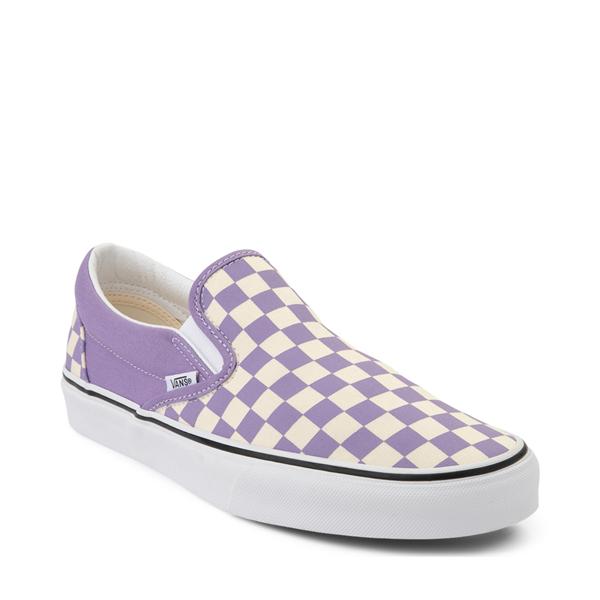 alternate view Vans Slip On Checkerboard Skate Shoe - Chalk VioletALT5