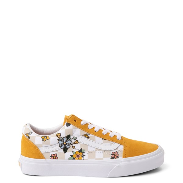 Vans Old Skool Cottage Checkerboard Skate Shoe - Yellow / Floral
