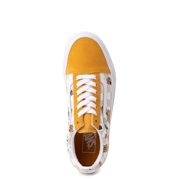alternate view Vans Old Skool Cottage Checkerboard Skate Shoe - Yellow / FloralALT2
