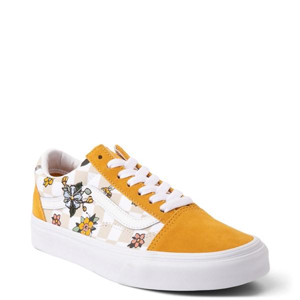 alternate view Vans Old Skool Cottage Checkerboard Skate Shoe - Yellow / FloralALT5