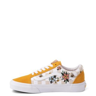 Alternate view of Vans Old Skool Cottage Checkerboard Skate Shoe - Yellow / Floral