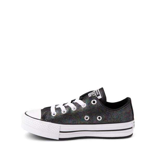 alternate view Converse Chuck Taylor All Star Lift Lo Sneaker - Little Kid / Big Kid - Black / IridescentALT1