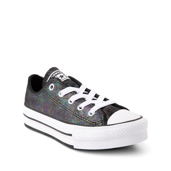 alternate view Converse Chuck Taylor All Star Lift Lo Sneaker - Little Kid / Big Kid - Black / IridescentALT5