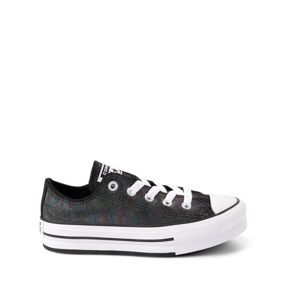 Converse Chuck Taylor All Star Lift Lo Sneaker - Little Kid / Big Kid - Black / Iridescent